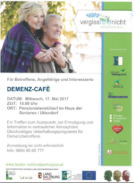 Demenzcafe in Uttendorf am 17. Mai